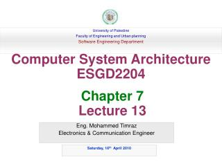 Eng. Mohammed Timraz Electronics & Communication Engineer