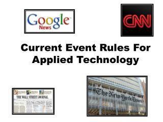 Current Event Rules For Applied Technology