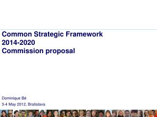 Common Strategic  Framework 2014-2020 Commission proposal