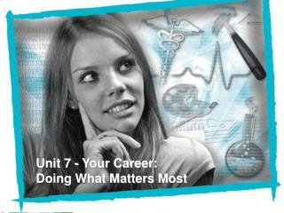 Unit 7 - Your Career:  Doing What Matters Most