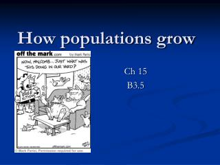 How populations grow