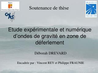 Etude exp rimentale et num rique d ondes de gravit  en zone de d ferlement
