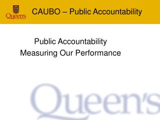 CAUBO – Public Accountability