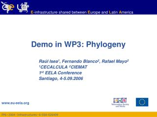 Demo in WP3: Phylogeny