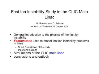 General introduction to the physics of the fast ion instability