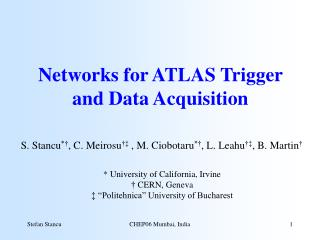 Networks for ATLAS Trigger and Data Acquisition