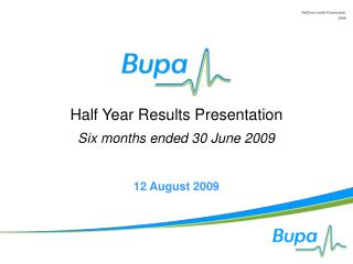 Half year results Presentation 2009