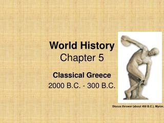 World History  Chapter 5