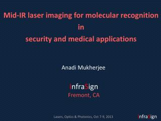 Mid-IR laser imaging for molecular recognition  in  security  and medical applications