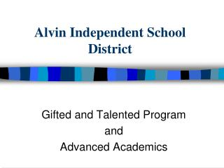 Alvin Independent School District