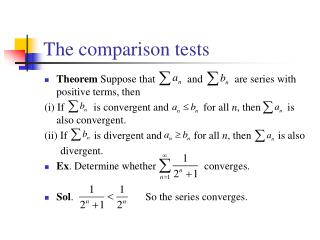 The comparison tests