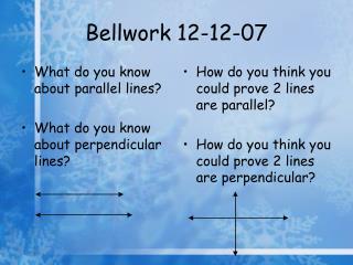 Bellwork 12-12-07