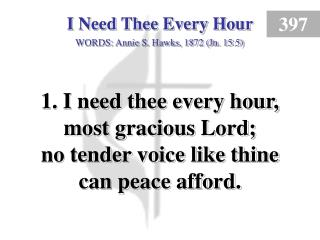 I Need Thee Every Hour (1)