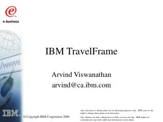 IBM TravelFrame