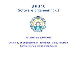 SE-308 Software Engineering-II