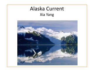 Alaska Current Xia Yang