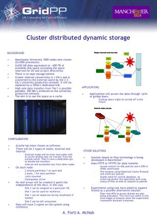 Cluster distributed dynamic storage