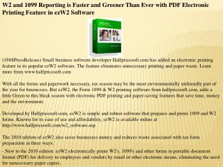W2 and 1099 Reporting is Faster and Greener Than Ever with P