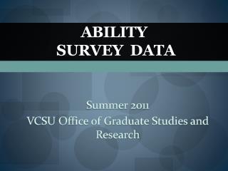Ability   Survey  Data