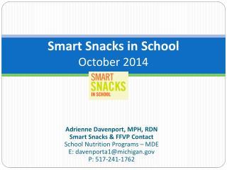 Smart Snacks in School October 2014