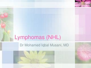 Lymphomas NHL