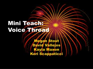 Mini Teach: Voice Thread