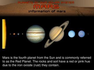 Information of Mars