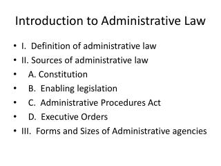 an introduction to the analysis of administrative law This video provides an introduction to administrative law it explores the role of administrative law in the legal system, where to find and how to use the federal register and the cfr, and.