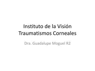 Instituto de la Visión Traumatismos  Corneales