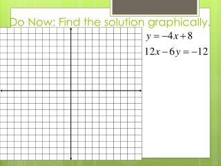 Do Now: Find the solution graphically.