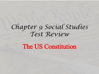 Chapter 9 Social Studies Test Review