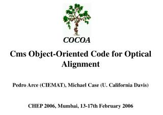 Cms Object-Oriented Code for Optical Alignment