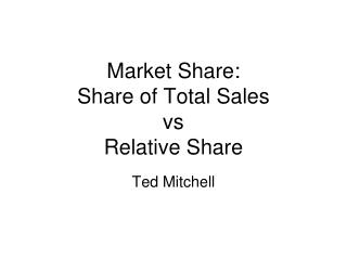 Market Share: Share of Total Sales vs  Relative Share