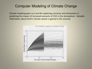 Computer Modeling of Climate Change