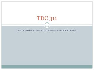 TDC 311