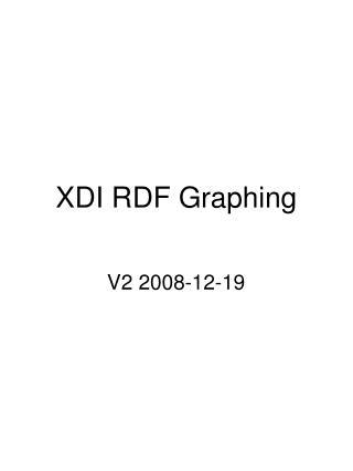 XDI RDF Graphing