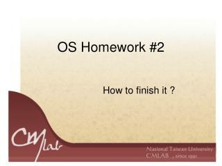 OS Homework #2