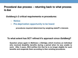 Procedural due process – returning back to what process is due