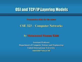 OSI and TCP/IP Layering Models