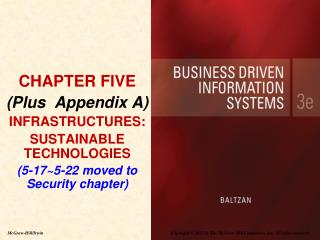 CHAPTER FIVE (Plus  Appendix A) INFRASTRUCTURES:  SUSTAINABLE TECHNOLOGIES