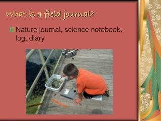 What is a field journal?