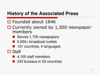 History of the Associated Press
