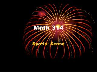 Math 314