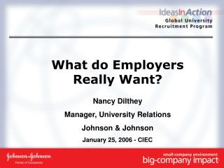 What do Employers Really Want?