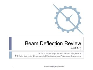 Beam Deflection Review  (4.3-4.5)