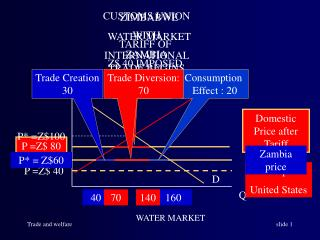 Domestic Price after Tariff