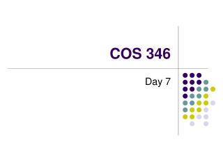 COS 346
