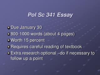 Pol Sc 341 Essay