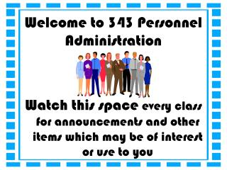 Welcome to 343 Personnel Administration