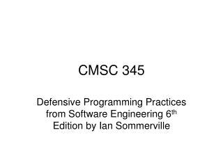 CMSC 345